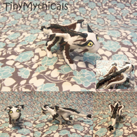 Hawk Inspired Polymer Clay Dragon (Contest Prize) by TinyMythicals