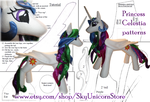 Princess Celestia plush toy Patterns for sale by Teonanakatle