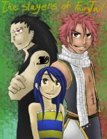 The slayers of fairy tail by darklightartist