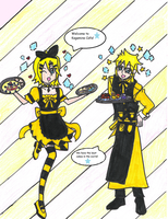 Welcome to the Kagamine Cafe! by asalovesyoru