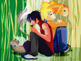 sasuke and naruto:koi by kika1983