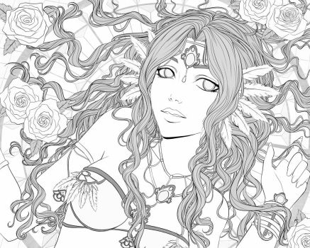 Sevrine - Black and white by Tropic02