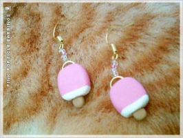 DIY Pink Popsicle Earrings by numb-existence