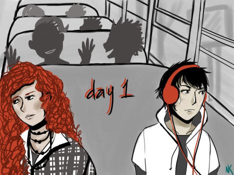 Eleanor and Park - Day 1 by Etudesque