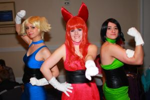 Katsucon 2014 - Bubbles, Blossom, and Buttercup by VideoGameStupid