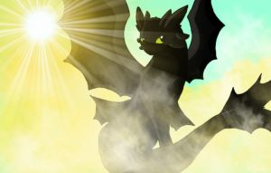 Toothless - Freedom by Forest-shrine-wolf