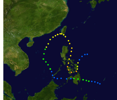 Typhoon Vongfong Track by toilets24