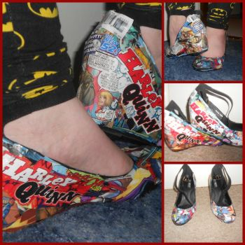 New 52 Harley Quinn Custom Shoes Issues 11-13 by Pikavee2231