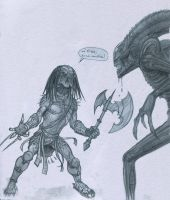 Pred Vs Alien by Mavros-Thanatos