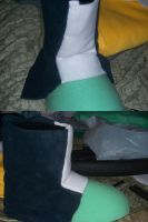 Beginning of the cosplay boots by magicwolf5