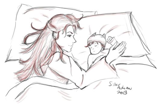 Catelyn Stark and Her First Born by silver-autumn