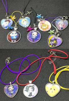 Cell phone charms and necklaces by Rhela