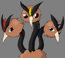Dodrio brothers by PokeCreature-Kid