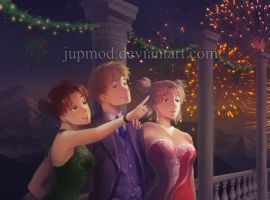 NaruTemaTen: New Year's Ball Celebration by JuPMod
