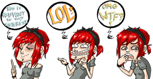 The three internet faces by EvilCreampuff