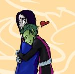 Raven and Beast Boy by LilGothWithAPencil