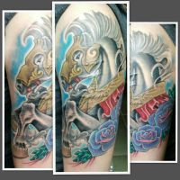 Half Sleeve Tattoo Finished by Rodeo-rogue