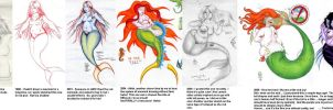 Mermaid Timeline Collage by LimeGreenSquid