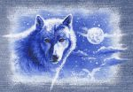 Denim Wolf 1 - Moon by rieke-b