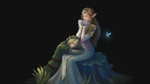Zelda and Link by EshiraArt