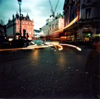 London by Night - Holga by Hadcorp