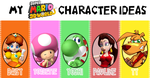 Super Daisy 3D Land Characters by SonicPal