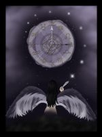 Heavenly Timekeepers-- Raven by MelissaDawn