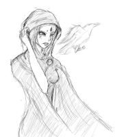 Raven Sketch by Squall1015