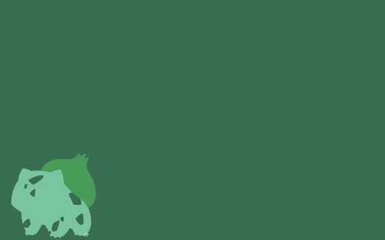 Minimalist Bulbasaur by NattieD123