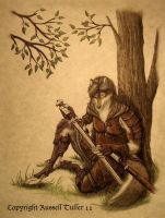 Wolf Anthro Ranger Revisited by RussellTuller
