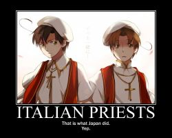 APH Motivational Poster: Italian Priests by dethnote-yaoifangirl