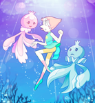 Pearl and Frillish by AskPrincesMultifruit