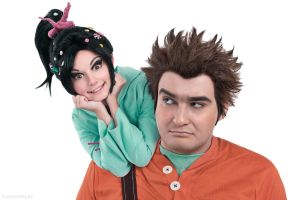 Ralph and Vanellope by HomoBernardus