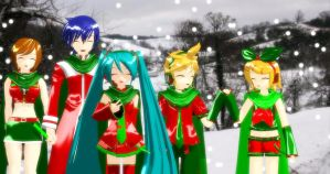 Christmas Vocaloids by AnimeLuvr15