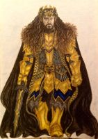 Thorin II Oakenshield the King under the Mountain by Marin1233