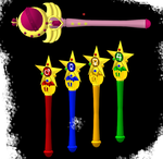 MMD sailor senshi star pen (all) and moon wand by IgnisDraconi