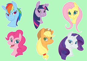 My Little Pony Stickers by SaltedVanilla
