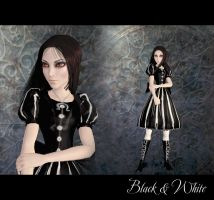 Alice Black-White by Lightsatan