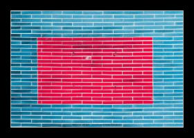Wall in red and blue by bupo