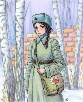 nurse during World War II (the USSR) by KaoriKonran