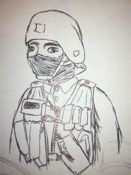 Another GSG-9 sketch by HashtagDown
