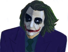 Joker speedpaint by Puddum