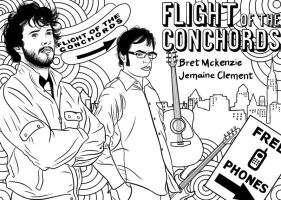 Flight of the Conchords by Lil-Miss-Macabre