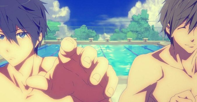 Swimming anime-Just us two by supermariobrosfan