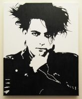 Robert Smith painted portrait by theartknife