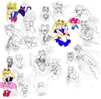 Faces of Usagi Tsukino by julitka