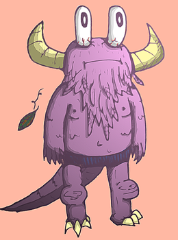 Monster Doodle color by valmurah