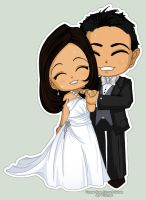 Wedding Chibis Kelson Sherrie by Kalisama