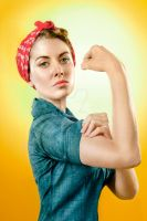 Alison Brie as Rosie the Riveter by StarForeman