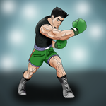 anime little mac with background by richard16